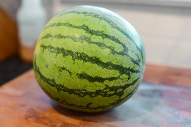 Halloumi Toasts with Watermelon Salad