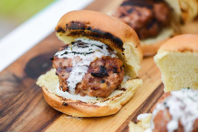 Spicy Pork Meatballs with Parmesan Cream Sauce