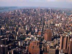 вид на Манхэттене сверху WTC