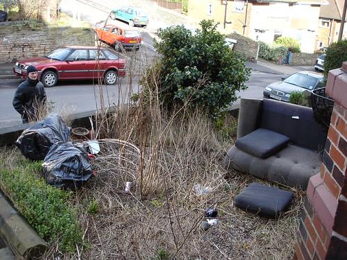 Litter in garden