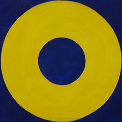 """squared circle - from edward ruscha's """"oof"""", moma, new york"""