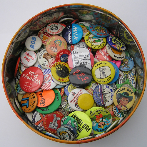 my childhood collection of badges | by Leo Reynolds