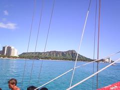 Diamond Head from the boat