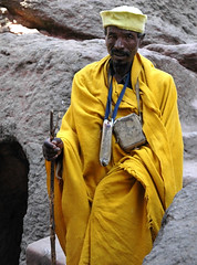 Lalibela, Ethiopia - Man in saffron robe | by mexikids