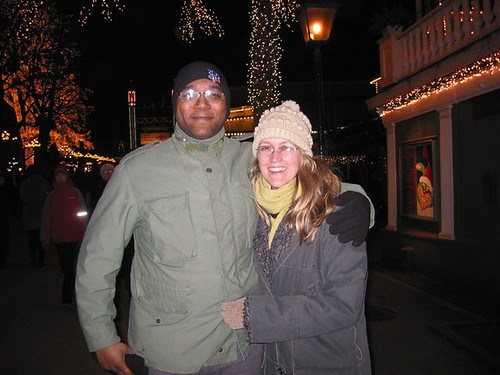 Gerrard and Sarah at Liseberg