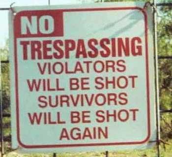 Trespassers Beware
