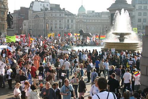 Anti-war demonstration at Trafalgar Square