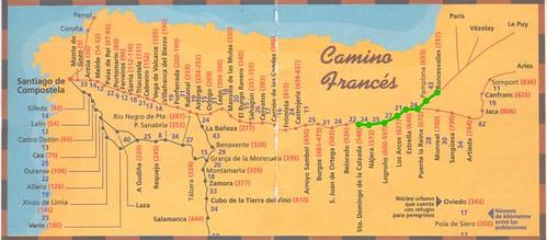 Camino Santiago Mapa