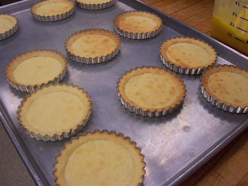 Baked  shortbread tart shells