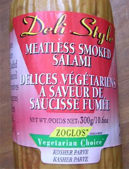 vegetarian salami
