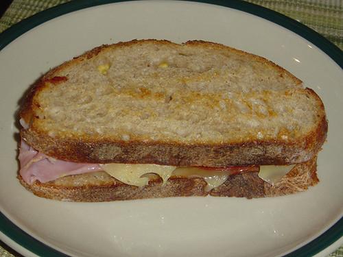 Ham Cheese Tomato Sandwich