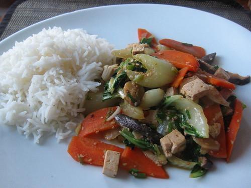Vegetable-tofu stirfry