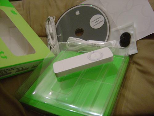 iPod shuffle open box