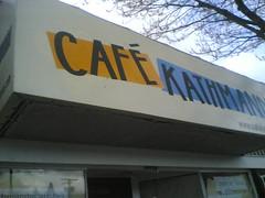 Cafe Kathmandu's New Sign
