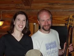 Eshinee & Rob at the Crossroads coffeehouse