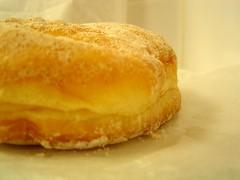 apple cinnamon donut side view