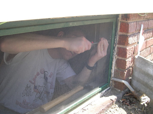 Screwing window shut