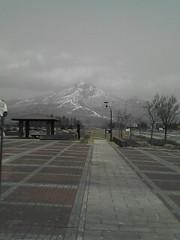 初春の磐梯山です