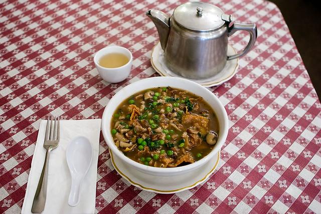 Roast diced duck Yee Won Ton