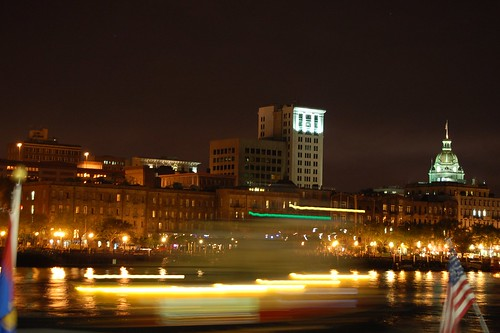 Ferry Passing River Street | by Dizzy Girl