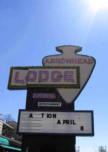 Arrowhead Lodge Sign Lake of the Ozarks, MO | The Arrowhead