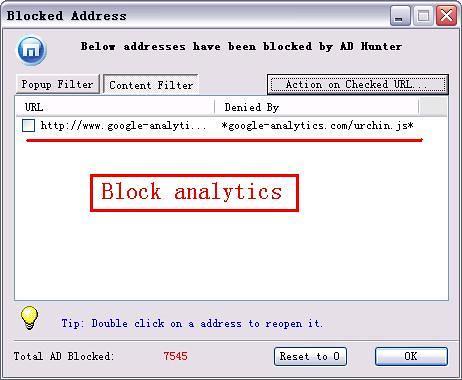 googel itics Block anal