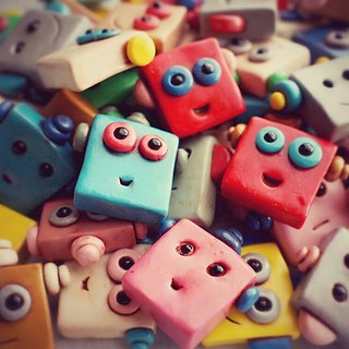 Look at all these wee little robots faces