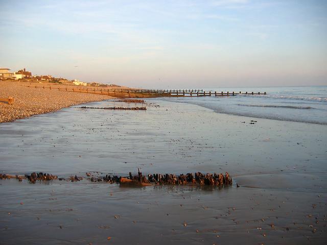 Approaching Cooden Beach