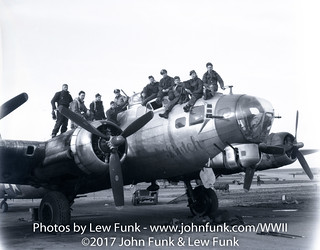"B-17 named ""Butch"" with it's Crew 