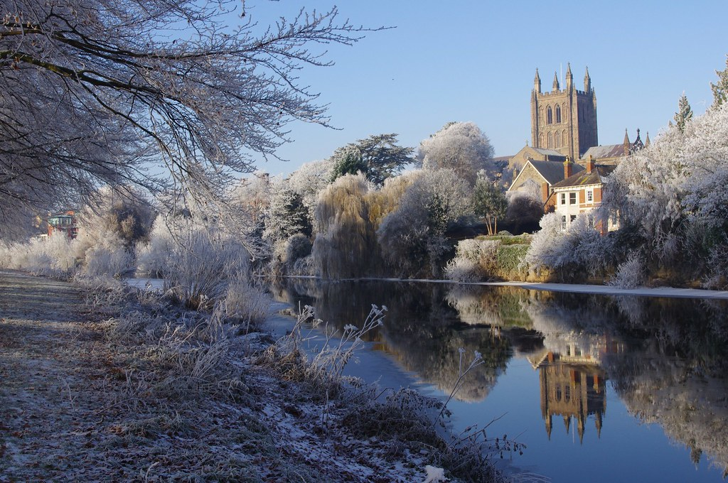 Hereford Cathedral and the River Wye