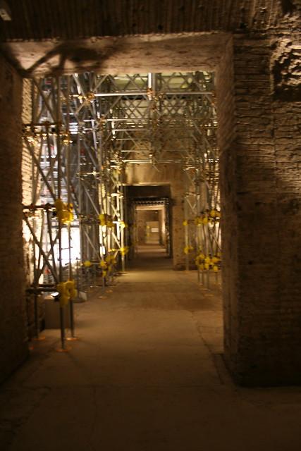 Restoration at the Domus Aurea, Rome