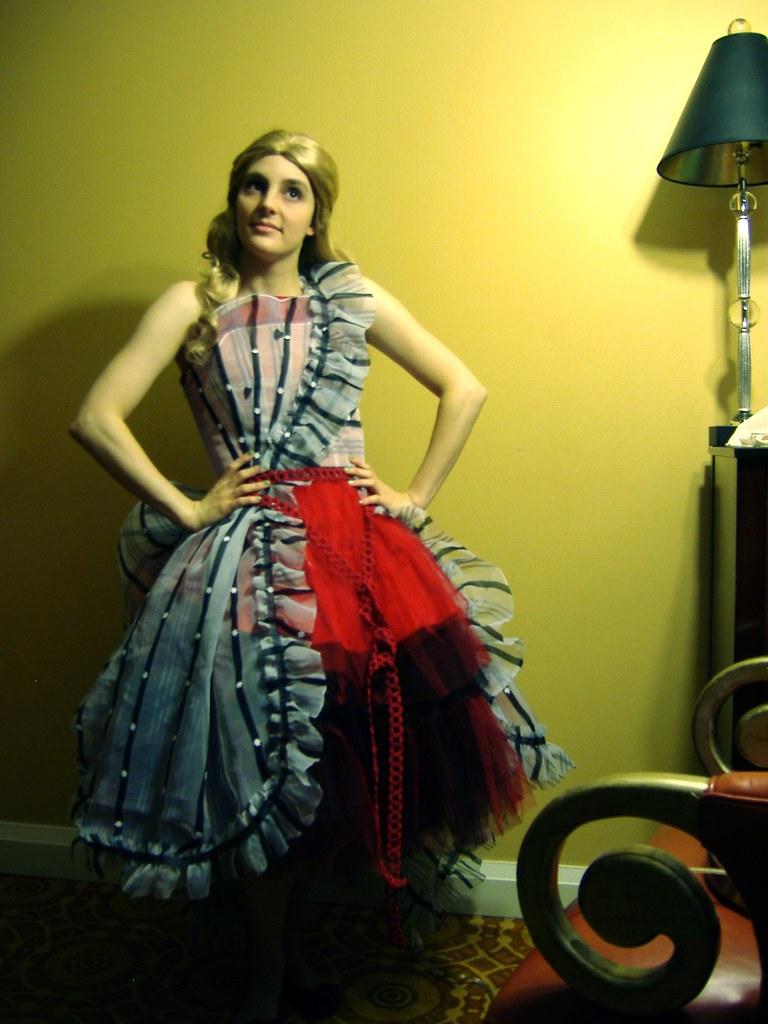 Tim burton's striped alice dress