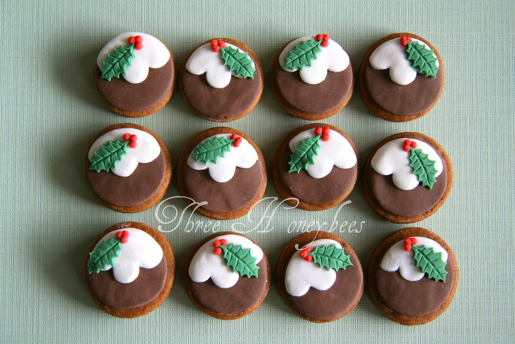 Mini Christmas Pudding Cookies Kylie Flickr