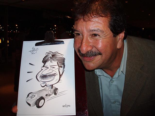 caricaturista evento mercedes benz