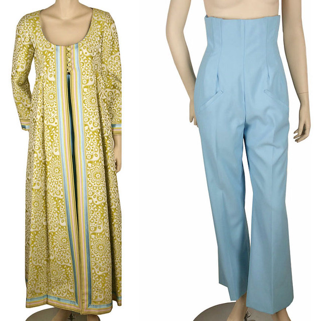 Vintage Natalie Collette Super High Pants & Long Coat Set