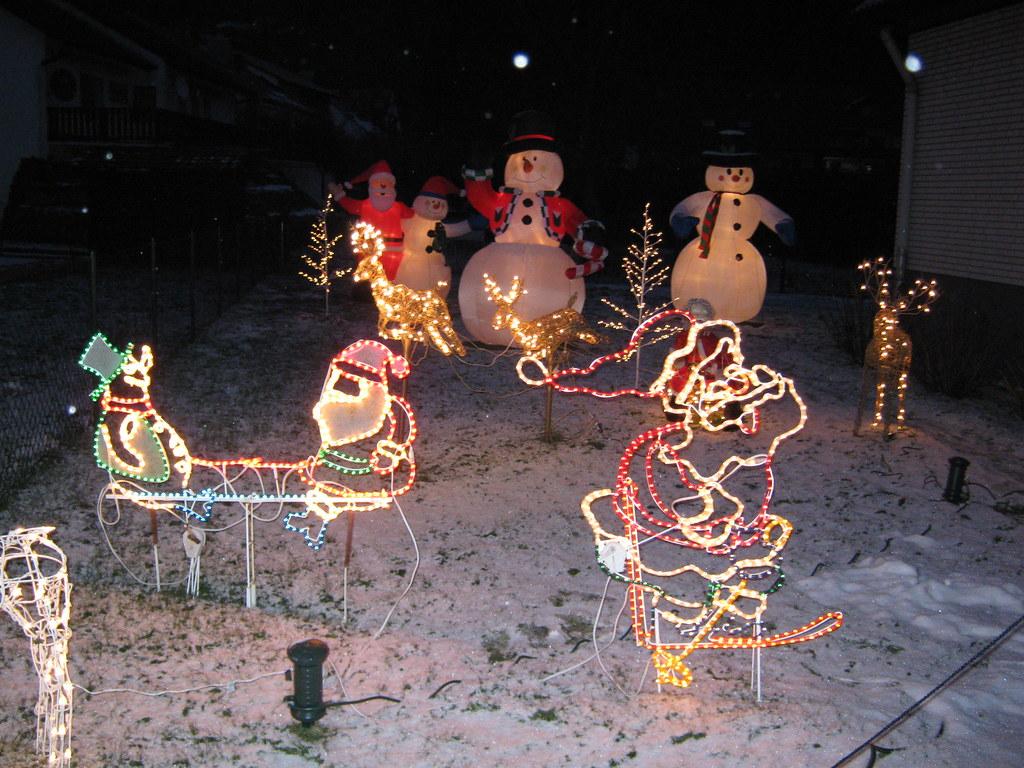 Kitschige Weihnachtsbeleuchtung.Kitsch Alarm Leicht übertriebene Weihnachtsdeko Flickr