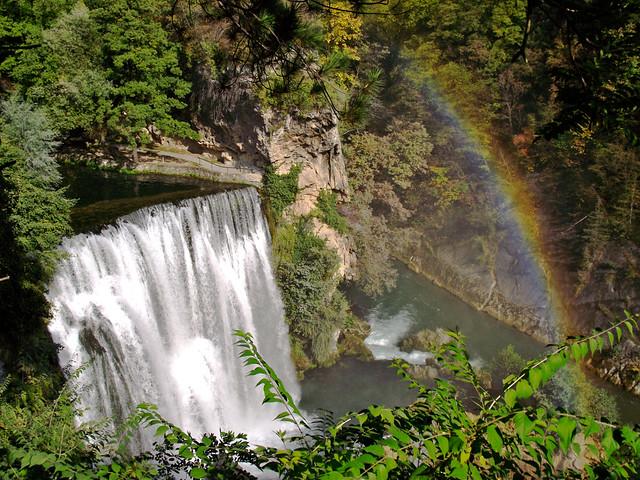 Jajce, Waterfall