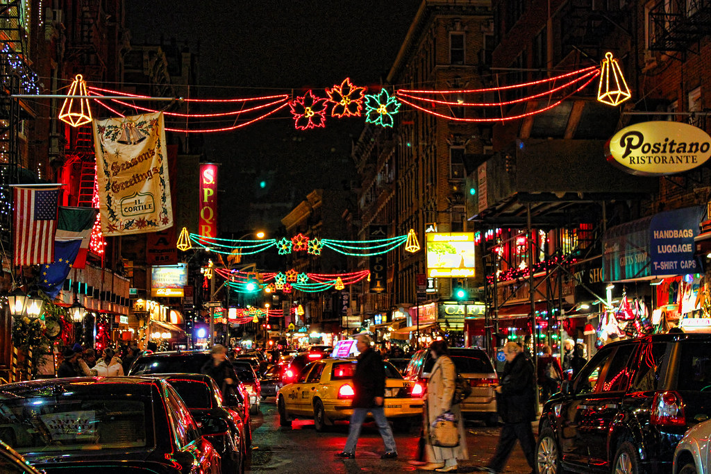 New York During Christmas Time.Little Italy At Christmas Time New York City S Little Ital