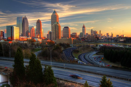 atlanta sunset sky usa skyline clouds america canon ga georgia aj evening day cityscape clear 75 85 hdr scad connector savannahcollegeofartanddesign brustein 50d