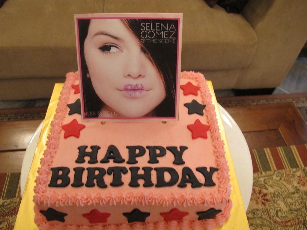 Fantastic Selena Gomez Cake Maji Flickr Funny Birthday Cards Online Drosicarndamsfinfo