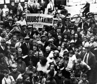 Huurdersstaking / Tenant strike protest