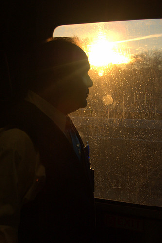 morning atlanta mike window train sunrise crescent amtrak passenger conductor amtk