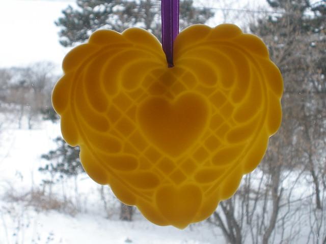 Heart Beeswax Ornament