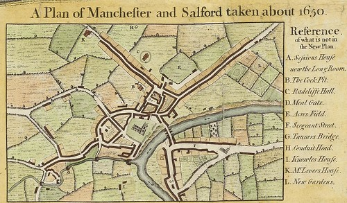 Map 1: A Plan of Manchester and Salford, c.1650 | by archivesplus