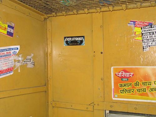 Everlutionary Sticker spotted on Mumbai Train | by everlutionary