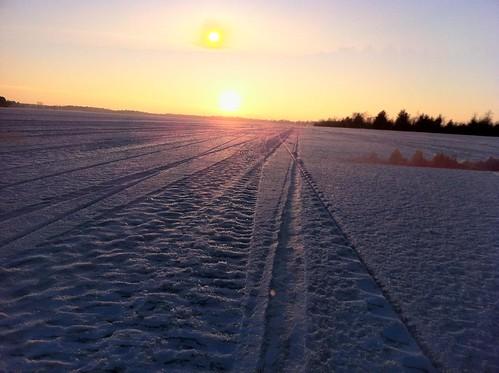 winter sunset snow ice dusk iceskating p365