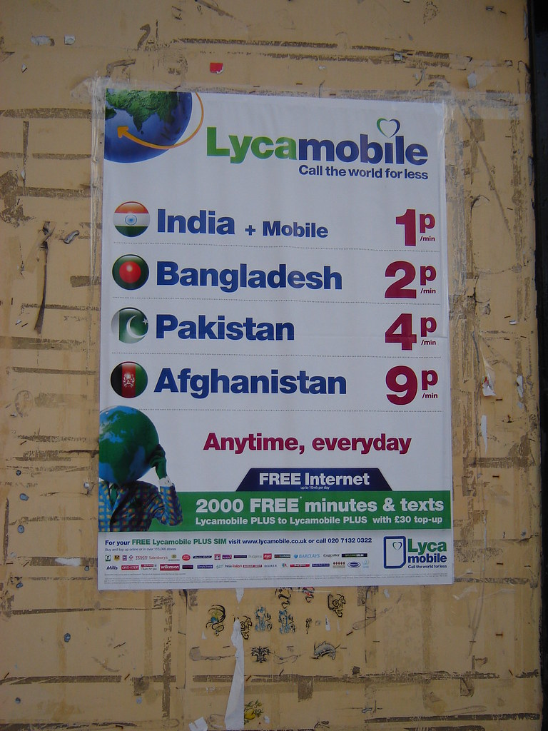 Lyca Mobile Advert, Westgate Road | I've come across many di