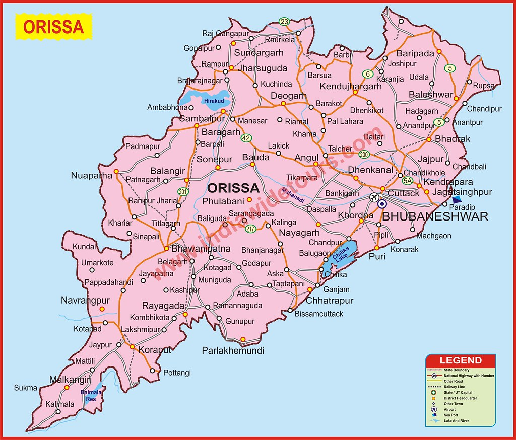 ORISSA | Map of India Tourist Map of India Map of Arunachal