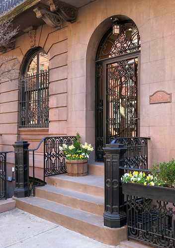 Entrance, 28 West 10th Street (1856), Greenwich Village, New York | by Spencer Means