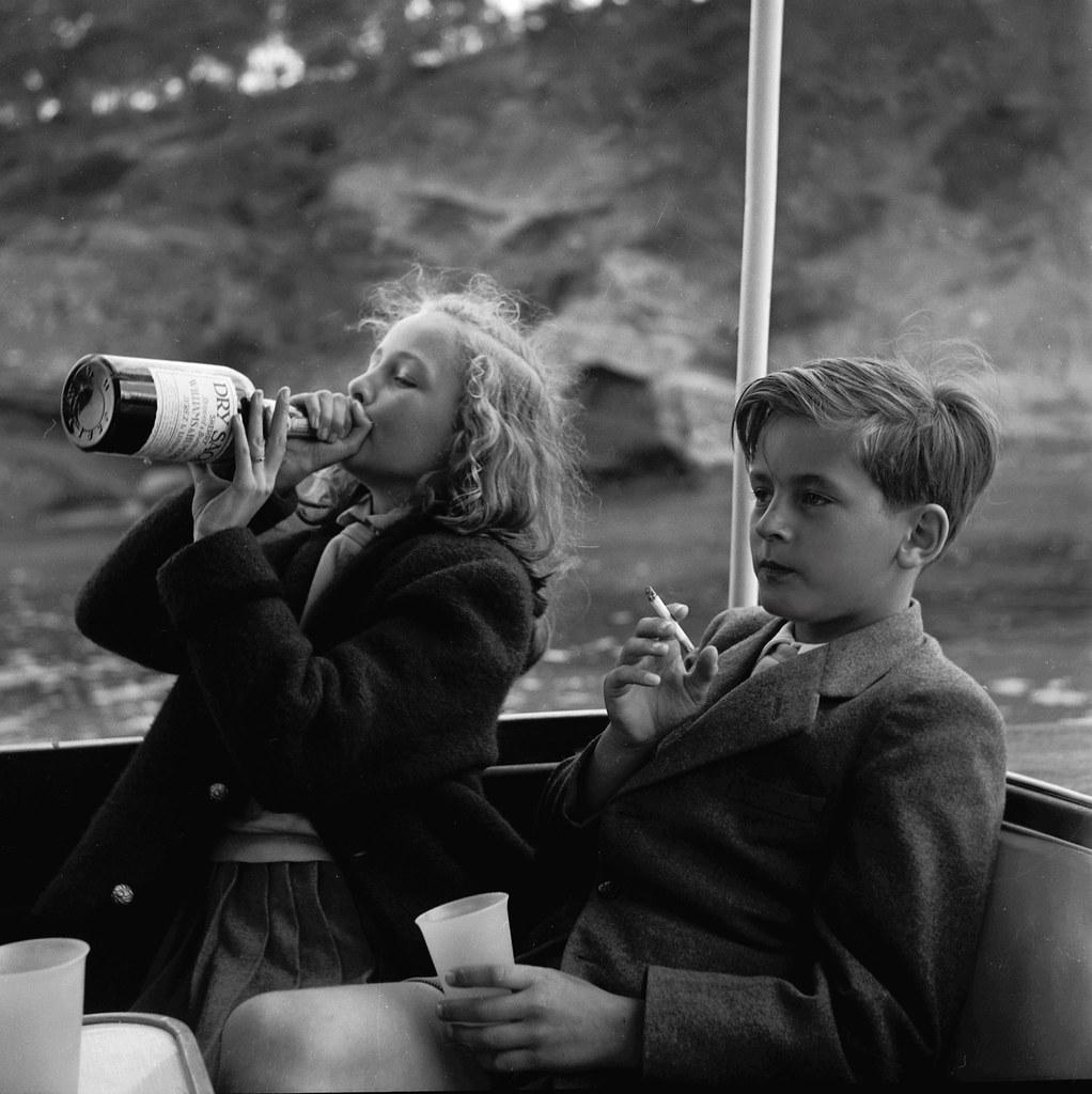 Princess Yvonne and Prince Alexander, by Princess Marianne Sayn-Wittgenstein-Sayn 1955